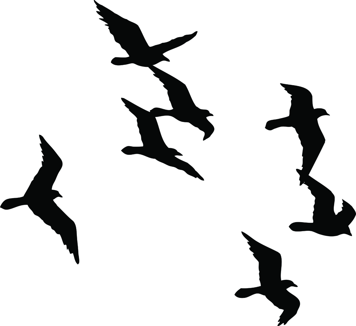 1140x1045 Flying Sparrow Silhouette Tattoo