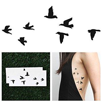 355x355 Tattify Birds Temporary Tattoo