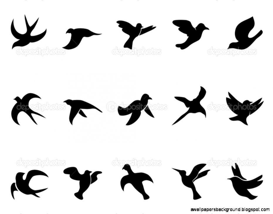 931x729 Bird Silhouette Tattoo Images