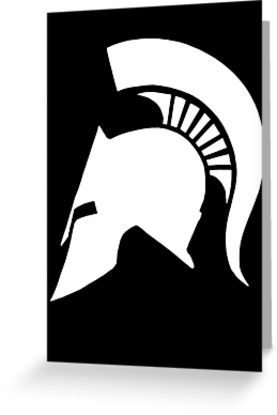 277x415 Spartan Helmet Greeting Cards By Zyzzshirts Redbubble