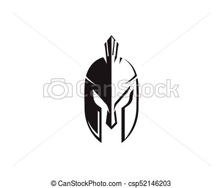 450x380 Spartan Helmet Logo Template Vector Icon Design Vector Clipart