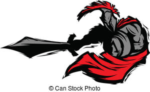 300x184 Spartan Helmet Silhouette Vector Clipart Illustrations. 567