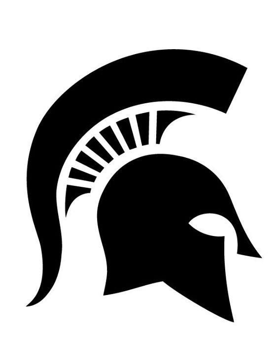 556x720 Msu Pumpkin Stencils Spartan Helmet I Bleed Green And White