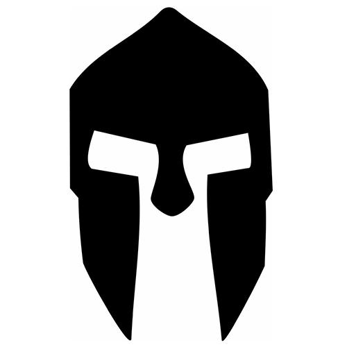500x500 Spartan Helmet Die Cut Vinyl Decal Pv1113