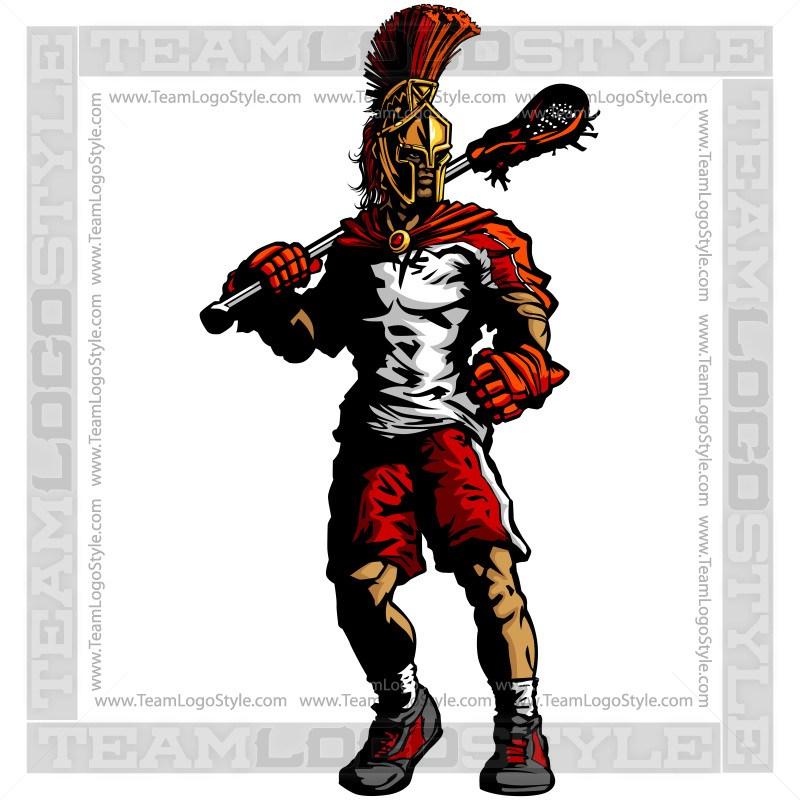 800x800 Spartan Lacrosse Silhouette