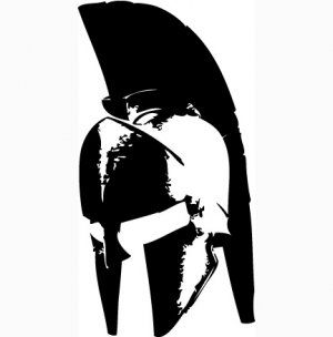 300x304 300 Spartan Helmet Vinyl Decal For Car Windows Laptops Walls Etc