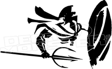 220x136 Spartan Shield Spear Silhouette 3 Decal Sticker