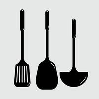 200x200 Spatula Spatulas Spoon Spoons Ladle Ladles Silhouette Silhouettes