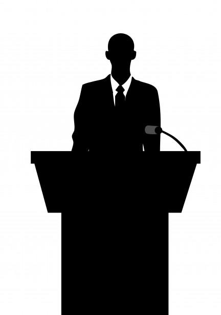 432x615 Public Speaker Silhouette