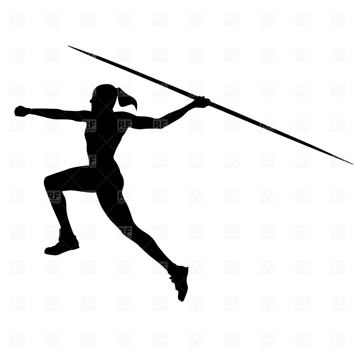 1200x1200 Women's Javelin Royalty Free Vector Clip Art Image