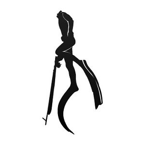 300x300 Freedive Spearfishing Sticker Diving Decal Spear Fishing Speargun
