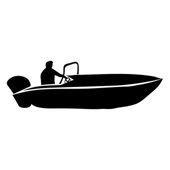 340x340 Free Silhouettes Toy, Boat, Engine