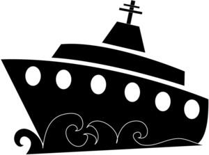 300x223 Ship Clipart Silhouette