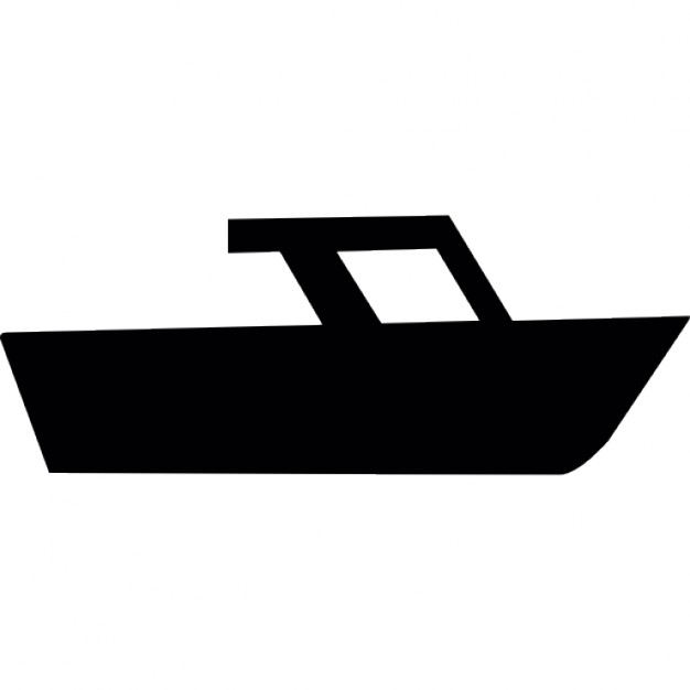 626x626 Speed Boat Side View Silhouette Icons Free Download