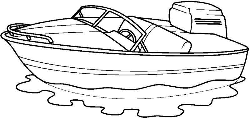 800x380 Speed Boat Clipart
