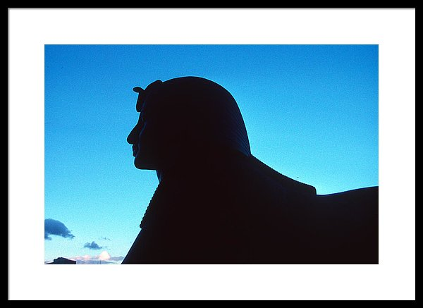 600x437 Thames Embankment Sphinx Silhouette Framed Print By Gordon James