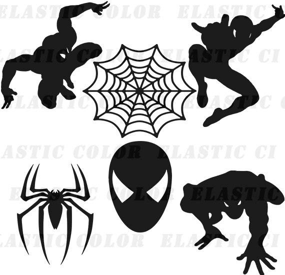 570x550 Spiderman Svg Clipart Silhouette