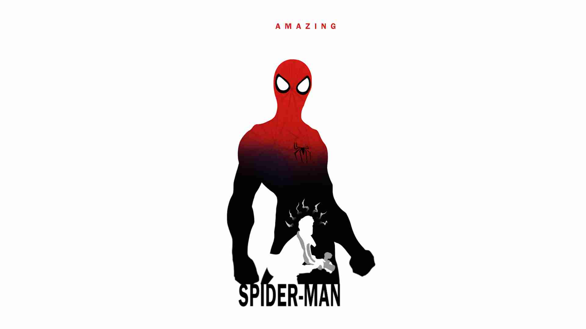 1920x1080 Picsdoc Marvel Silhouettes By Steve Garcia Throughout Spiderman