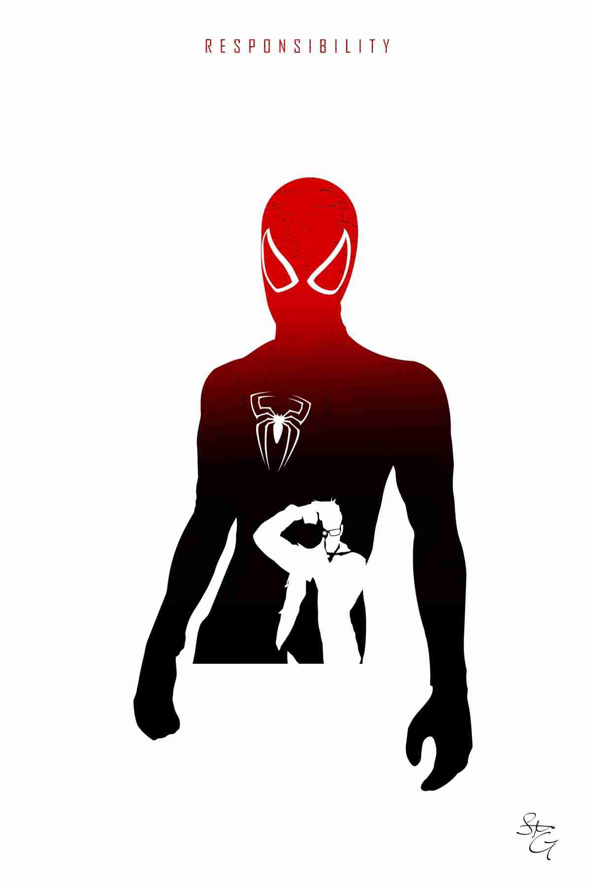 1200x1800 Spider Man My Artwork Silhouettes Tearing Spiderman