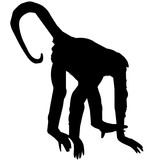160x160 Spider Monkey Silhouette Vector Graphics Stock Image And Royalty