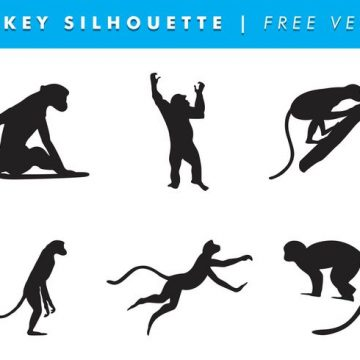 360x360 Monkey Silhouette Archives My Graphic Hunt