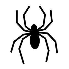 270x270 Spider Silhouette Stencil 01 Free Stencil Gallery