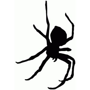 300x300 Dangling Spider Silhouette Design, Spider And Silhouettes