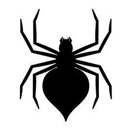 270x270 Spider Silhouette Stencil 02 Massiel Bat