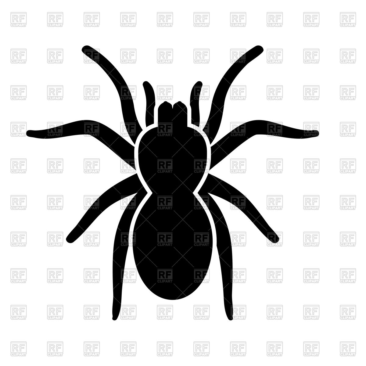 1200x1200 Spider Silhouette Royalty Free Vector Clip Art Image
