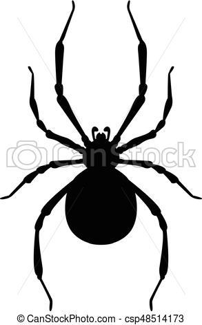 293x470 Spider Silhouette Vectors Illustration