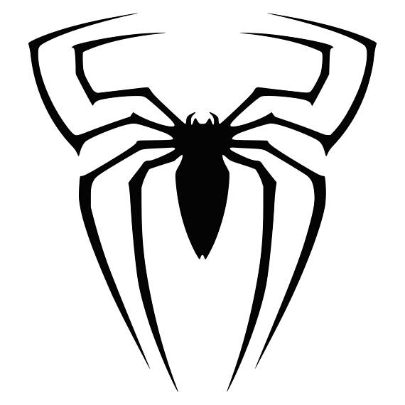 570x570 Spiderman Svg Clipart Silhouette Spider Man Vector Files