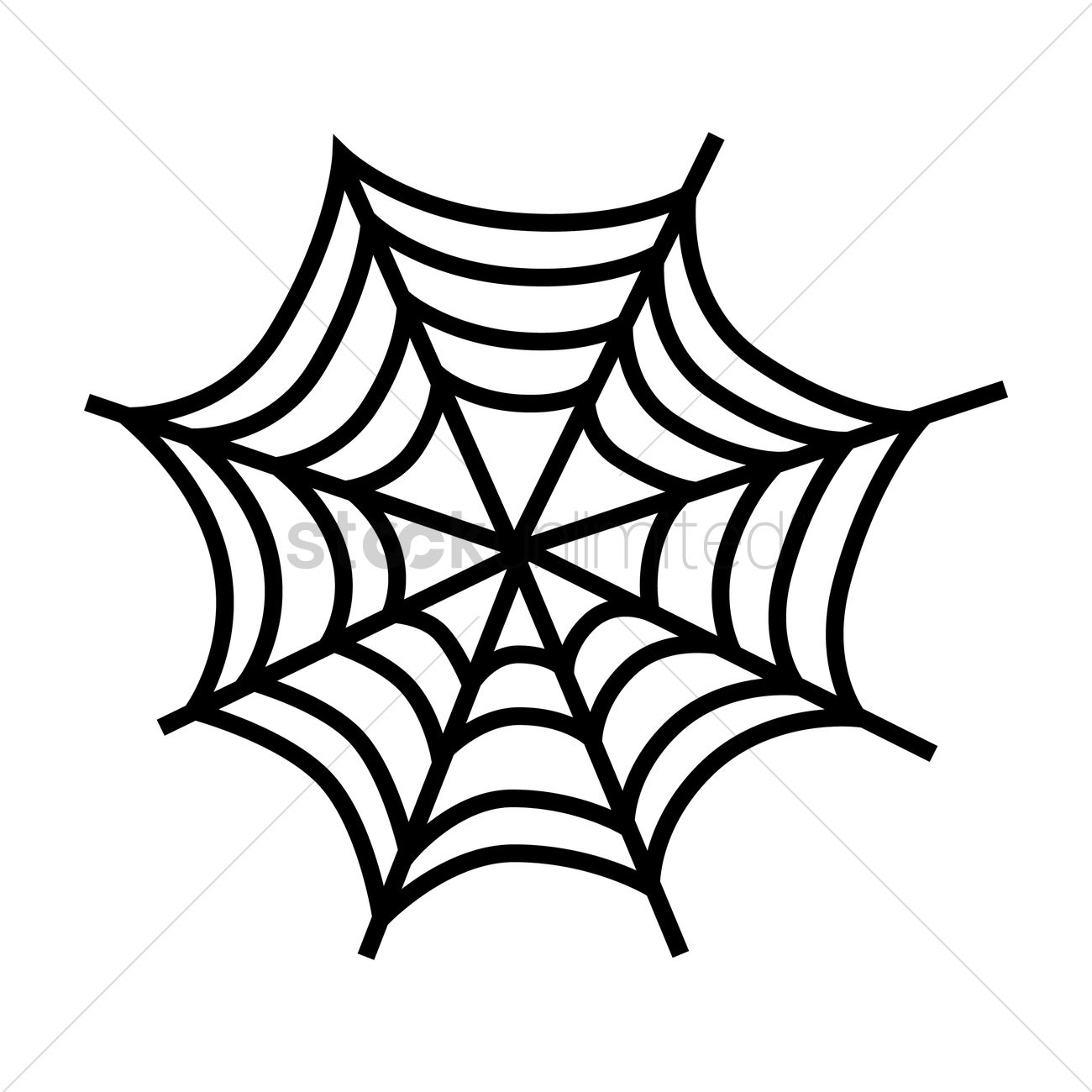 1300x1300 Silhouette Of A Cobweb Vector Image
