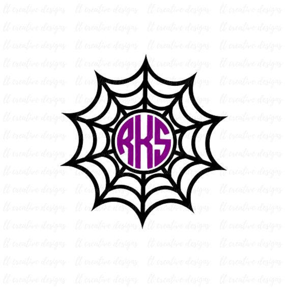 570x567 Spider Web Monogram Svg, Halloween Monogram Frames, Halloween Svg