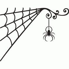 236x236 Halloween Spider Web Frame Svg Dxf, Png Digital Download File