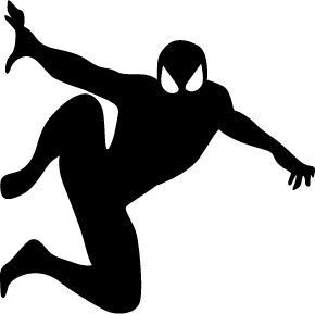 290x289 Spiderman Wall Sticker Decoration For The Doorbell Laptop