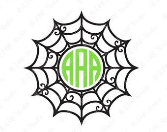 340x270 Spider Web Monogram Svg Halloween Monogram Frames Halloween