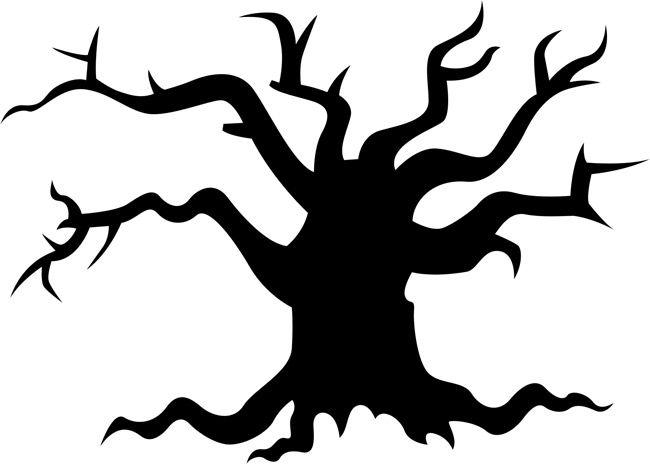 Spooky Halloween Tree Silhouette at GetDrawings | Free ...