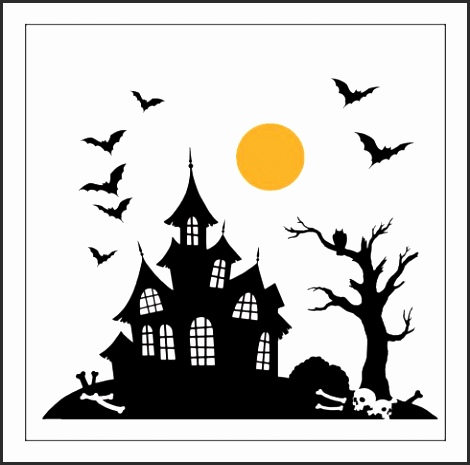 470x465 10 Haunted House Silhouette Template Besttemplates