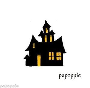 300x293 Halloween Stencil Haunted House Spooky For Crafts 5 In Ebay