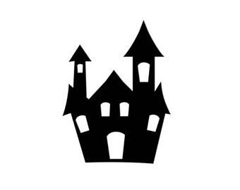 340x270 Halloween Haunted House Die Cut Silhouette