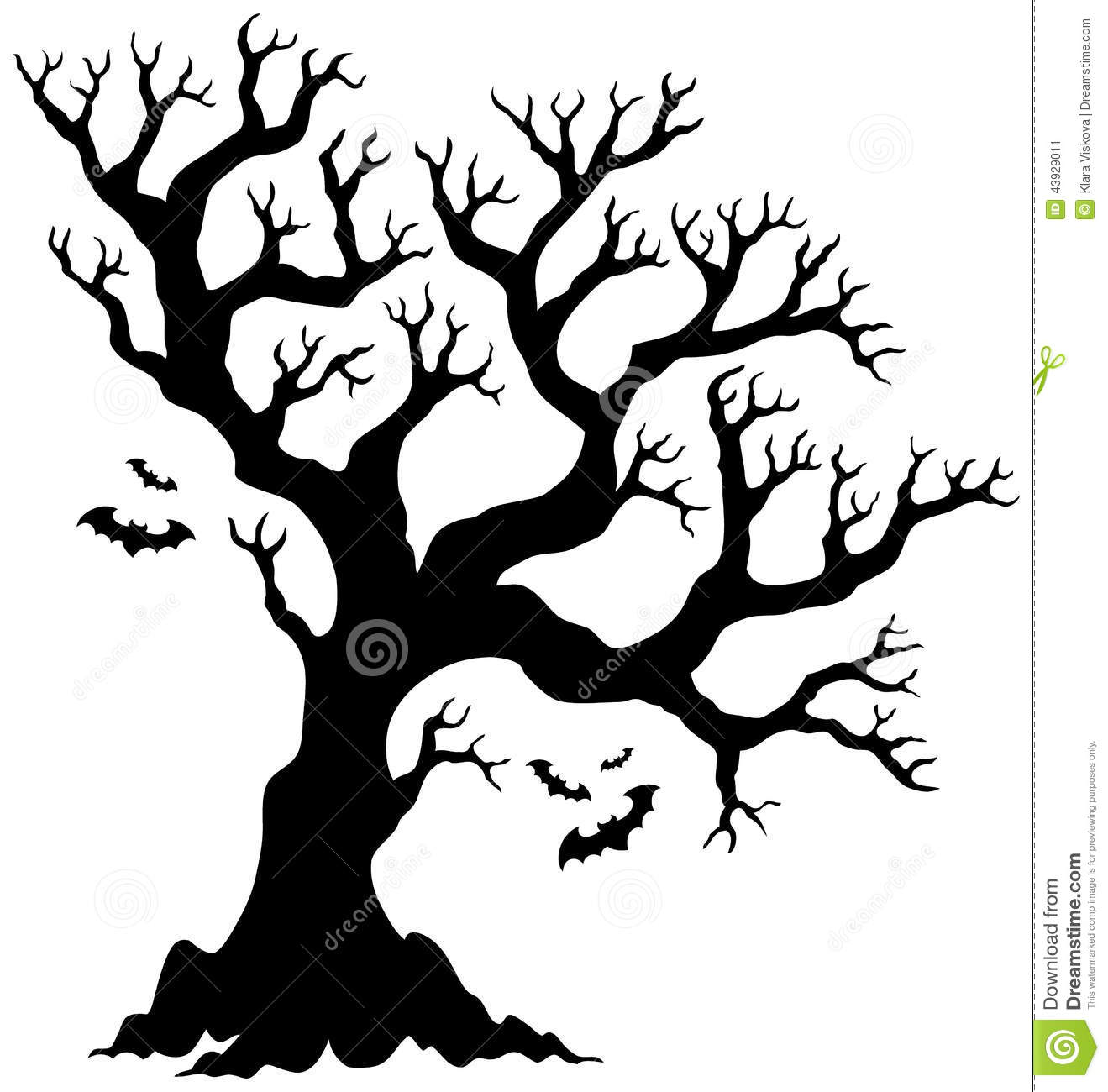 spooky tree silhouette at getdrawings com free for personal use rh getdrawings com Tree Silhouette Halloween Clip Art Borders