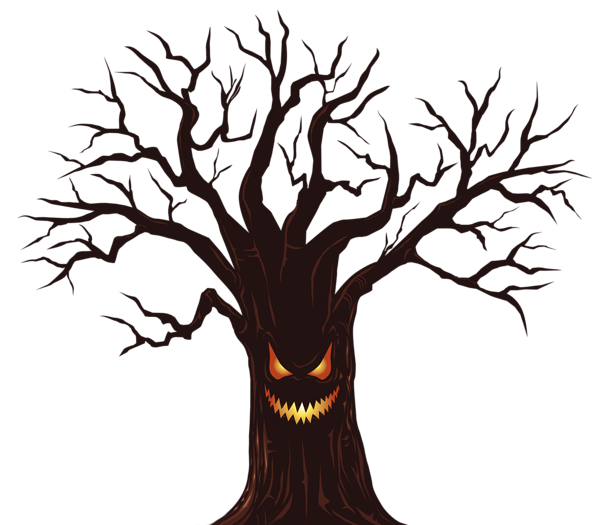 600x525 Halloween Spooky Tree Png Clipart Image