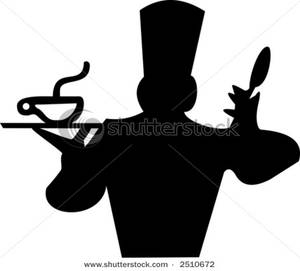 300x271 Of A Cook With A Steaming Bowl Of Soup And A Spoon Clipart Picture