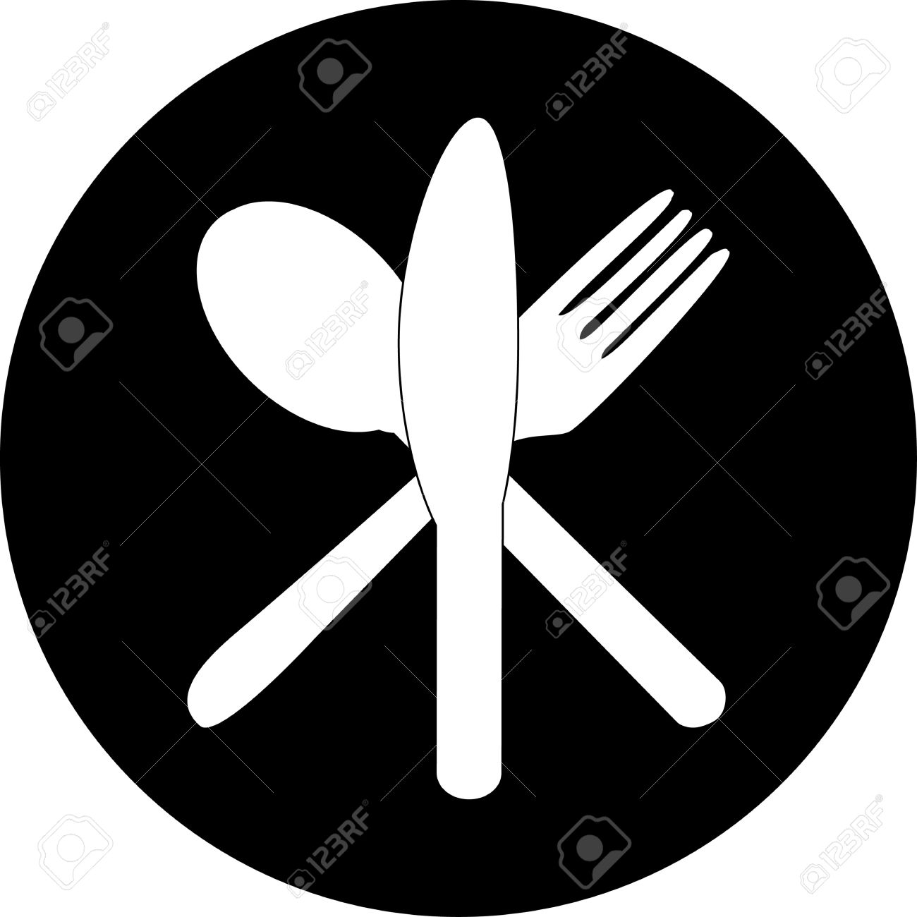 1300x1300 Silhouette Clipart Fork Knife Spoon