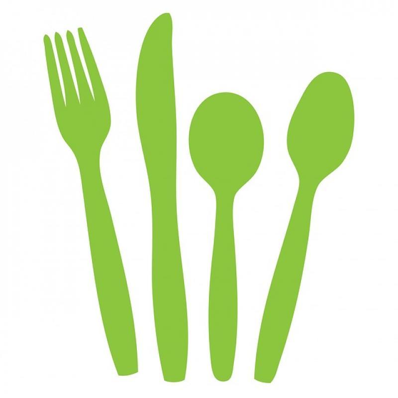 800x800 Cutlery Knife Fork Spoon Green Silhouette Clipart