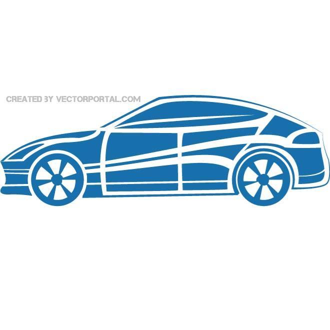 660x660 Sports Car Silhouette Vector