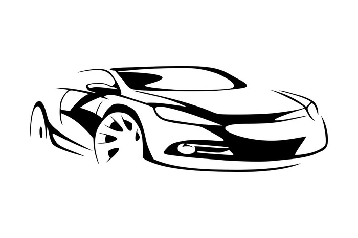700x467 Sports Car Silhouette Wall Mural We Live To Change
