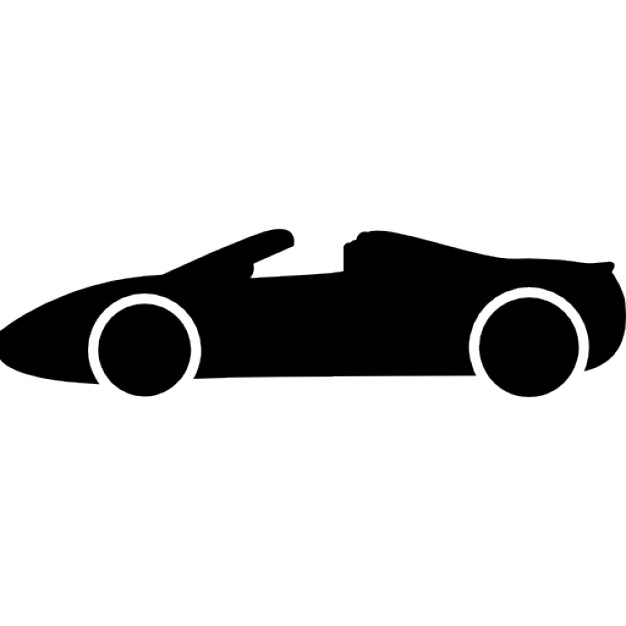 626x626 Sports Car Top Down Silhouette Icons Free Download