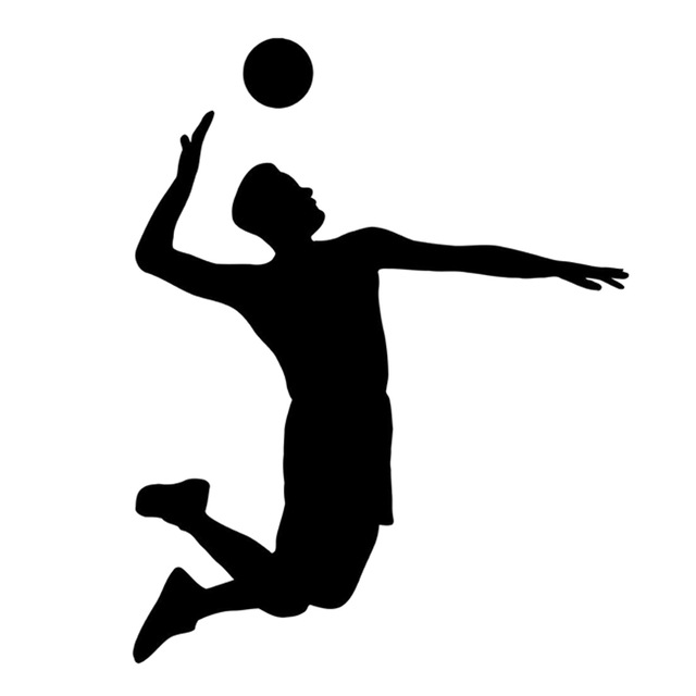 640x640 12.5cm15.8cm Interesting Volleyball Sport Player Extreme Jump