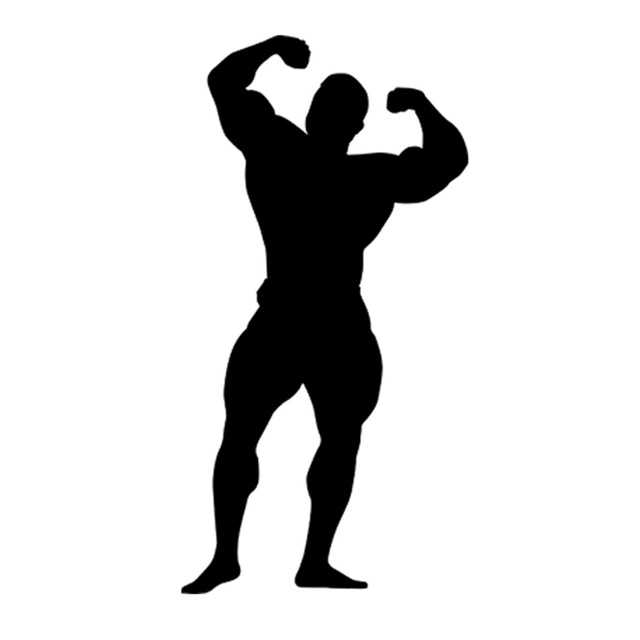 640x640 Gym Bodybuilder Sport Silhouette Funny Car Style Car Bumper